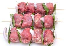 Skewers of meat Royalty Free Stock Photo