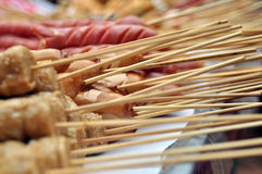 Skewers of meatball Stock Images