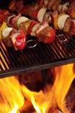 Skewers na grillu Obrazy Royalty Free