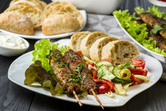 Free Skewers Of Minced Meat Stock Images - 99244084