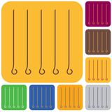 Skewers set icon. Vector illustration Stock Photography