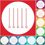 Skewers set icon. Vector illustration Royalty Free Stock Photos