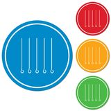 Skewers set icon Stock Photography