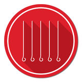 Skewers set icon Royalty Free Stock Photo