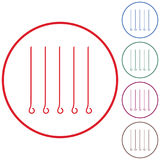 Skewers set icon Royalty Free Stock Images