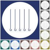 Skewers set icon. Vector illustration Stock Photo