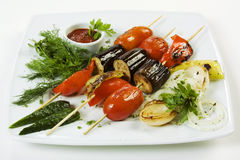 Skewers of vegetables Royalty Free Stock Photography