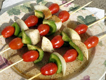 skewers veggie fotografia stock