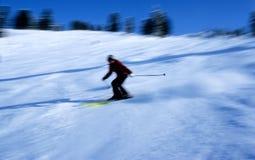 Skiër in actie 8 Royalty-vrije Stock Afbeeldingen
