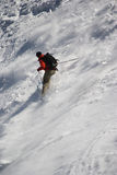 Skiër op Mont Blanc Royalty-vrije Stock Fotografie