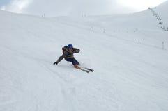 Skiër op zijn beurt Royalty-vrije Stock Fotografie