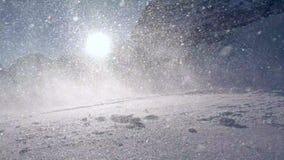Skiër van piste, langzame motie stock footage