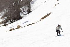 Skiërs die van de sneeuw genieten Royalty-vrije Stock Afbeelding