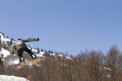 Skiërs die van de sneeuw genieten Royalty-vrije Stock Foto