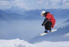 Skiüberbrücker Stockbild