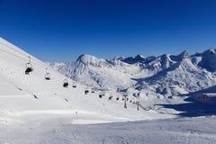 Ski à Serfaus/Fiss photo libre de droits