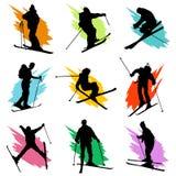 Ski. Set of ski collection vector Royalty Free Stock Image
