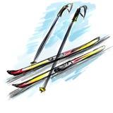 Ski stock abbildung