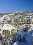 Ski. Mont Tremblant ski village in Quebec Canada stock photography