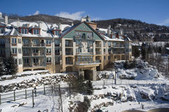 Ski. Mont Tremblant ski village in Quebec Canada royalty free stock photos