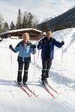 ski aîné en travers de pays Images libres de droits