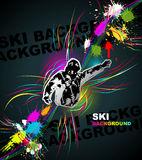 Ski abstract background Stock Images