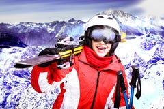 Ski alpestre photo stock