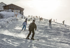 Ski in Alps Stock Images