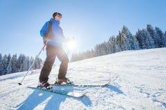Ski in Alps, winter sport Royalty Free Stock Image