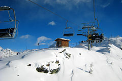 The Ski Area. In italian alps Stock Image