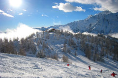 The Ski Area stock photography