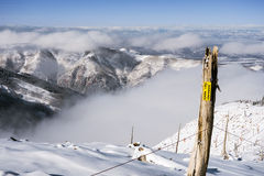 Ski Area Boundary Stock Image