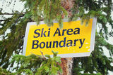 Ski area boundry Stock Photo