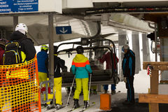 Ski area Dienten am Hochkonig, austria Alps in winter Stock Photos