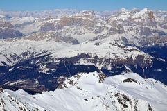 Ski area in the Dolomites Royalty Free Stock Image