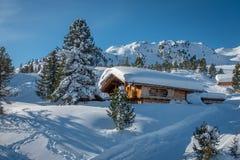 ski area with fantastic weather stock image