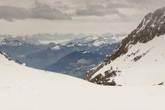 Ski area Glacier De Diablerets Stock Photography