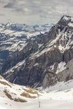 Ski area Glacier De Diablerets Royalty Free Stock Photography