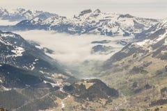 Ski area Glacier De Diablerets Stock Photo