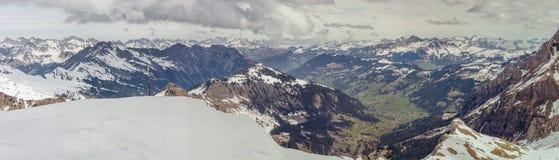 Ski area Glacier De Diablerets Stock Images