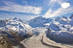 Ski area at Gornergrat Royalty Free Stock Image