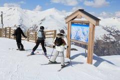 Ski area map Stock Photos
