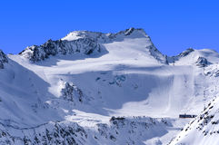 Ski area on Rettenbach Glacier, Solden, Austria Stock Photography