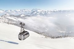 Ski area Zell am See/Kaprun, Austria Stock Images
