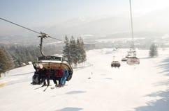 Ski-Aufzug in Polen Lizenzfreie Stockfotos