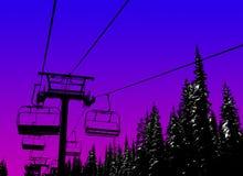Ski background vector illustration