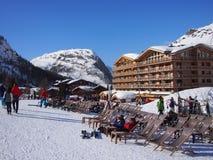 Ski Bar i solen Arkivfoto