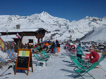 Ski Bar im Sun Stockfoto