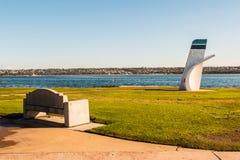 Ski Beach Park with Bill Muncey Memorial in San Diego Royalty Free Stock Photo