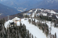 The ski and biathlon complex Royalty Free Stock Images